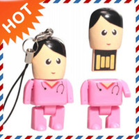 Real 512MB 2GB 4GB 8Gb Robot USB Drive in Mini Pink Nurse St...