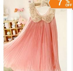 Wholesale NEW ARRIVAL new fashion chiffon toddler girl dresses Sequin Fold beautiflu