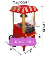Wholesale 1pc Diy Mini Carriage Shape Nostalgic Hot Air Popcorn Machine Poper Pop Corn Maker Popcorn Popper
