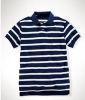 Men's Striped Classic- Fit Polo Shirts Male t- shirts Men Shor...