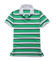 High Quality Mens Short- Sleeved Striped Polo Shirts Male Lap...