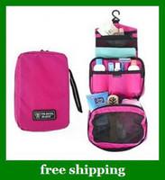 1pcs Curso de Higiene Pessoal pendurar sacos de maquiagem envio Cosméticos Wash Bag Zipper Organizer grátis