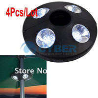 Wholesale 4Pcs Portable LED Bulbs Garden Parasol Light Patio Outdoor Camping Lamp Tent Umbrella Light F