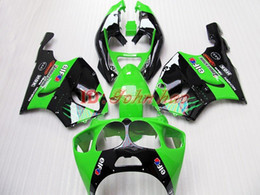 Green+Black ABS Plastic Fairing kit for Kawasaki Ninja ZX7R 1996 - 2003ZX 7R ZZR 750 96 97 98 99 00