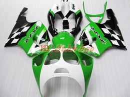 Green Black ABS Plastic Fairing kit for KAWASAKI Ninja ZX7R 1996 - 2003 ZX 7R ZZR 750 96 97 98 99 00