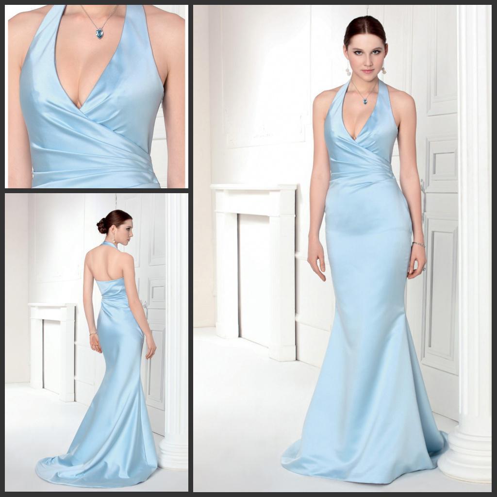 Prom dress blue halter