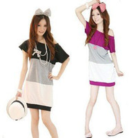 Wholesale cheap Change garments according to the promotion cotton women casual dresses