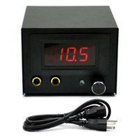 Wholesale Black LCD Digtal Display Tattoo Power Supply for tattoos machine gun with plug