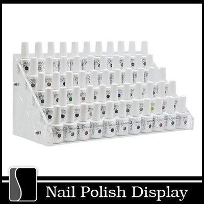 Clear Acrylic Nail Polish Large Display Stand Rack Organizer Table ...
