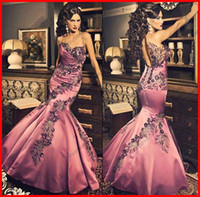 Trumpet/Mermaid floor length satin dress - 2015 Vintage Mermaid Sweetheart Floor Length Satin Embroidery Sequins Beaded Sleeveless Evening Gown Prom Dresses Formal Party Dresses