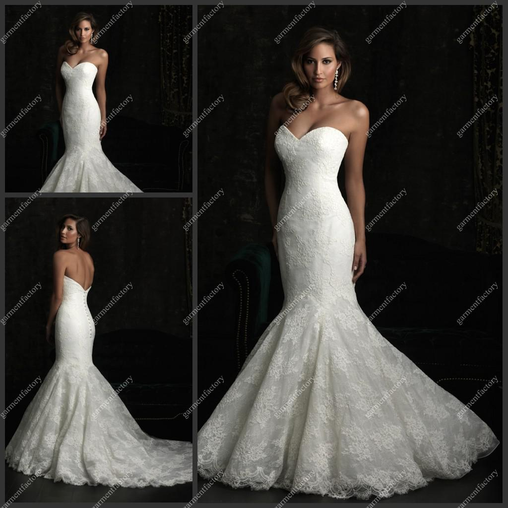 Wedding Sexy Lace Wedding Dresses sexy sweetheart mermaid lace wedding dress chapel train 2013 new bridal gown