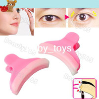 Wholesale 10pairs New Brief Convenient Double Eyelid Clipper Double Eye Clip Plastic Pink
