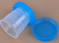 Wholesale Hot foldable Folding Drinking water Cups mugs four Collapsible For Travel c