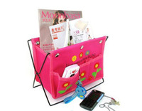 Fabric Sundries Eco Friendly wholesale HOP BAG ORGANIZER INSERT MP3 phone storage Multi desk table holder folding cute flower des