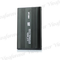 Wholesale Fashion Hot USB quot HDD SATA Hard Disk Drive Enclosure Case Cover Play And Plug HDD Promotion