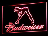 Wholesale a133 r Budweiser Exotic Dancer Stripper Bar Light Signs