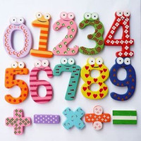 Wholesale Kids Educational Learning Kids Maths Toys Numbers Sign Puzzle Wooden Fridge Magnet set