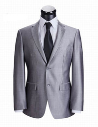 Wholesale high end top fashion men s silver grey business suit
