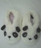 Wholesale Cute Panda Plush indoors Shoes slippers size