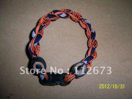 Wholesale b New style NCAA college titanium sport silicon bracelet mixed