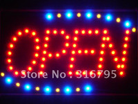 Wholesale led001 r Red OPEN Classic LED Neon Business Light Sign