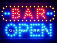 Wholesale led072 b BAR OPEN LED Neon Sign WhiteBoard