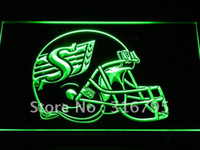 Wholesale b441 g Saskatchewan Roughriders Helmet Neon Light Sign