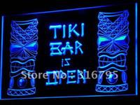 Wholesale i573 b Tiki Bar is OPEN Mask Display NR Neon Light Sign