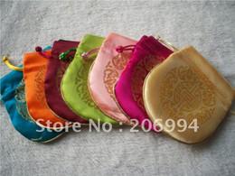 Wholesale silk Organza Wedding Jewelry Gift Bag(9cmX11cm) 50pc lot