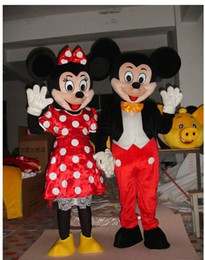 Wholesale ON SALE Mouse Couple minnie and mickey mascot costume Adult Size