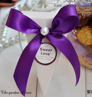 Favor Boxes as picture show Paper 122801 Ribbon Candy Box Wedding Favor Box Wedding Gift Boxes in 11 colors