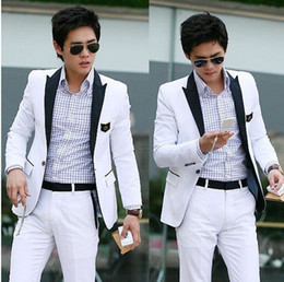 Wholesale hot selling Men s Suit Men s Brand Name Suit Bump Color Black Brought White Leisure Su