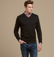 Wholesale New Stylish Cashmere Men s Long Sleeve Sweaters Pullovers Men s Sweater Size