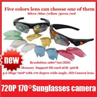 None No  Video Recorder Real HD 720P Camera+170 Degrees Wide Angle Sunglasses DVR Eyewear Hidden Camera
