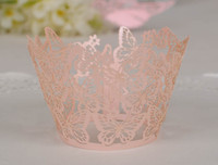 Wholesale Laser cutting Butterfly Cupcake Wrapper Wedding Decoration Laser Cupcake Wrapper