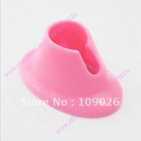 Wholesale Pink Nail Art Varnish Polish Salon Display Bottle Rubber Holder Stand NA943