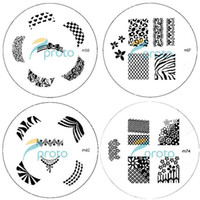 Wholesale PROMOTION M Series Round Stainless Steel Image Plate Nail Art Stamping Plate Template SKU C3
