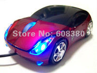 Wholesale Colorfull Light Car Wired Mouse PC Computer Mouse USB Wired Optical for DELL IBM HP ACER TOSHIBA