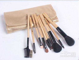 Wholesale 2013 Hot Sale set Professional makeup brushes Cosmetic Brush Leather Case factory outlets