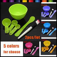 Wholesale New in DIY Facial Face Gauge Mask Stick Mixing Bowl Brush Spatulas Spoon Beauty Makeup Tool Kit