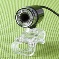 Wholesale 5pcs Mega Portable Clear Clip Design USB Webcam Camera Web Cam for PC Laptop Compututer free ship