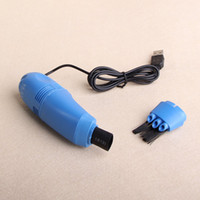 Wholesale 5pcs Mini USB Vacuum Keyboard Cleaner Dust Collector for Laptop Computer PC Notebook free ship