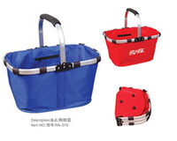 Wholesale Market Basket Tote Folding shopping fruit laundry gift handbag bag