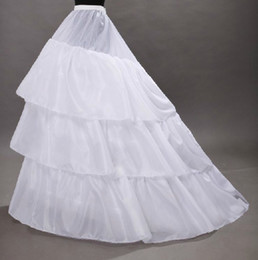Wholesale Best Selling Ball Gown Tier Chapel Train Petticoats Bride Underskirt Crinoline For Wedding Dresses