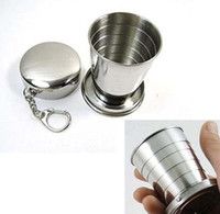 Wholesale 75ml Stainless Steel Travel Camping Outdoor Portable Folding Collapsible Cup