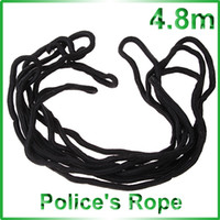 Wholesale 4 m Strong Nylon Police s Rope Black