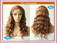 Wholesale DHL Free Medium Auburn quot quot quot quot Body Wave Sexy Chinese Glueless Full Lace Wigs