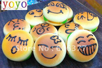 Wholesale SP51M cm medium emotional face hamburger bun squishy phone charm