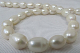 "New Fine Pearl Jewelry New Fine Pearl Jewelry 18""11-13MM REAL SOUTH SEA WHITE PEARL NECKLACE"