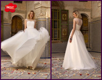 Wholesale Custom Made Empire Sweetheart Sheer Straps Floor Length Waist Belt Net Tulle Wedding Dresses